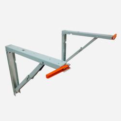 Кронштейн для откидного стола Протей 500 белый с газ.лифтами для стола 150кг глубиной 500-600мм(2шт)
