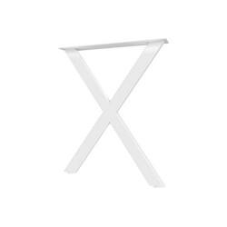 Опора для стола X-образная  Н=945*595, белый муар