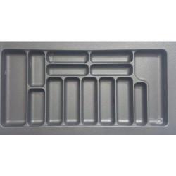 Лоток для столовых приборов серый 800 мм  (740x490x55)                  STARAX (S-2289)