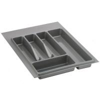 Лоток для столовых приборов серый 400 мм  (300-340) х (380-490)                   Ц.К.(32/73.N40/GR)