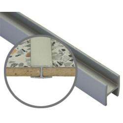 Соединение  д/фальш панели прямое алюм. 600*4 мм