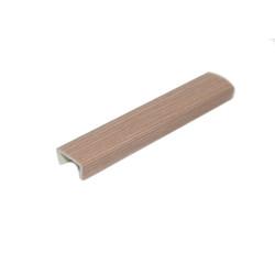 Заглушка торцевая  для цоколя  дуб шимо темный (10 см)