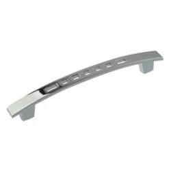 Ручка перфорация мелкая 128 мм, хром