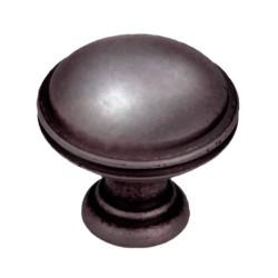 Ручка кнопка, патинированная медь                                                 Ц.К. ( GR49-GPM25)