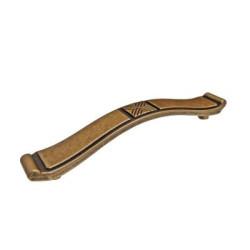 Ручка-скоба L - 128, старинная бронза                                   Ц.К.(WMN.628.128.00D1)