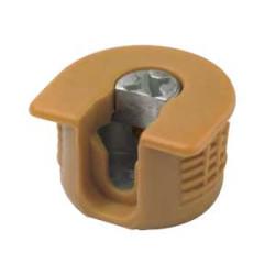 Рафикс для ДСП 16 мм   пластмасс, ОРЕХ   D20/H 12.7         Hettich   (9066716)