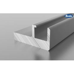 F1-08 Алюминиевый профиль рамочный серебро для радиусных фасадов, матовый 6м