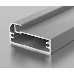 F1-11 Алюминиевый профиль рамочный серебро, матовый 6м