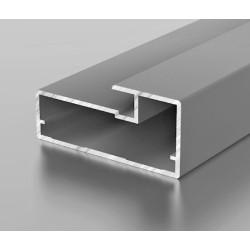 F1-19 Алюминиевый профиль рамочный серебро, матовый 6м