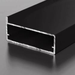 F1-30 Алюминиевый профиль рамочный черный, матовый 3м