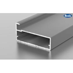 F1-33 Алюминиевый профиль рамочный серебро, матовый 5,9м