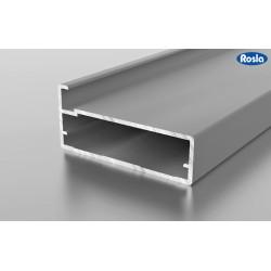 F1-37 Алюминиевый профиль рамочный серебро, матовый 5,9м