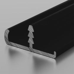 Торцовочный профиль 18 мм ДР1-03 СМ мат. черный, 6м (ЛДСП 16мм+пластик0,5-0,8мм)