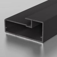 F1-19 Алюминиевый профиль рамочный черный, матовый 5,9м