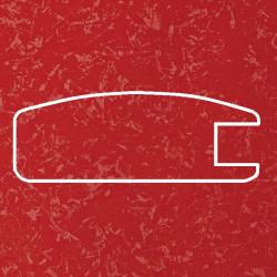 Профиль МДФ 1800  красный шёлк KIRMIZI 5030