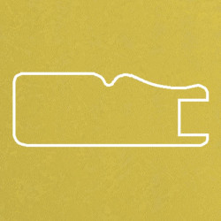 Профиль МДФ 1811 желтый шелк SARI 5020