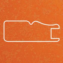 Профиль МДФ 1811 оранжевый шелк TURUNCU 5040