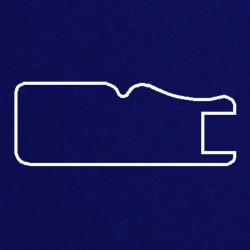 Профиль МДФ 1811 синий шелк LACIVERT 5080