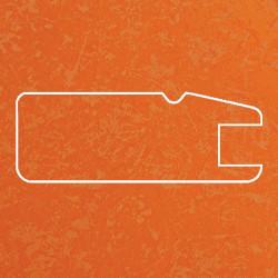 Профиль МДФ 1820  оранжевый шёлк TURUNCU 5040