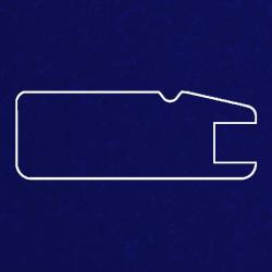 Профиль МДФ 1820  синий шёлк LACIVERT 5080