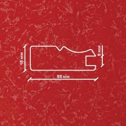 Профиль МДФ 1840  красный шёлк KIRMIZI 5030