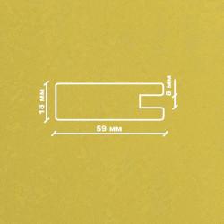 Профиль МДФ 1850  желтый SARI 5020