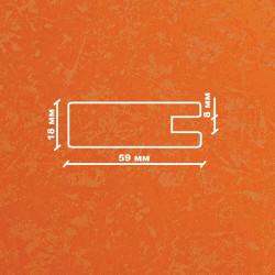 Профиль МДФ 1850  оранжевый шёлк TURUNCU 5040