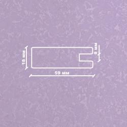Профиль МДФ 1850  сиреневый шёлк LILA 5060