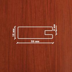 Профиль МДФ 1850  яблоня HUS 1060