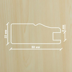 Профиль МДФ 2210  клён  Ванкувер A.AGAC 1010