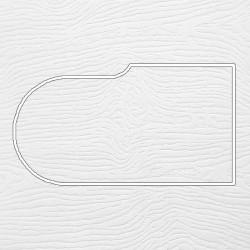 Профиль МДФ ТО20  белая текстура 4010