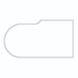 Профиль МДФ ТО20  белый глянец 6010