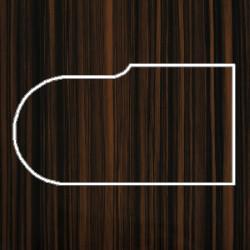 Профиль МДФ ТО20  зебрано глянец 6100