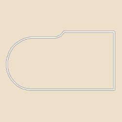 Профиль МДФ ТО20  крем глянец 6020