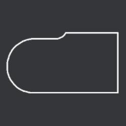 Профиль МДФ ТО20  черный глянец 6040