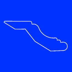 Профиль МДФ ТО40  синий  MAVI 4020