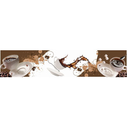 МДФ глянец стен. влагоустойч. 2800х600х6   Кофейная фантазия  (SP 106)