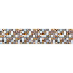 МДФ глянец стен. влагоустойч. 2800х600х6    Плитка коричнево-белая (SP 3/10)