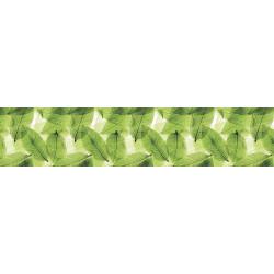 МДФ глянец стен .влагоустойч. 2800х600х6    Листья зеленые  (AF 25)
