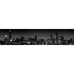 МДФ глянец стен .влагоустойч. 2800х600х6    Город ночной Ч/Б  (F 38)