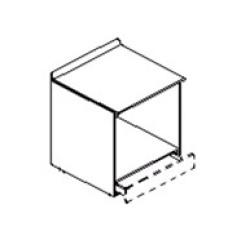 Модуль нижний под духовку с присадкой под 1ящик метабокс (1СБТ 72-60/Б)