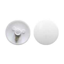Заглушка конф. пластиковая, D=14мм,   белая