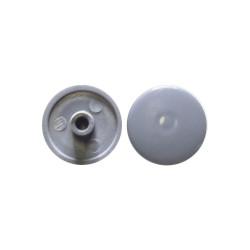 Заглушка конф. пластиковая, D=14мм,   ветло серый