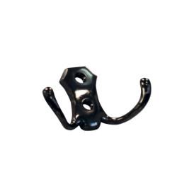 Крючок  двойной, черный никель                    (K-RENAL2-07)