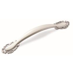 Ручка-скоба 96 мм FS-141 хром матовый/белый                                    Валмакс (FS-141)