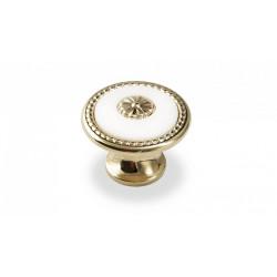 Ручка-кнопка  FB-027 золото/белый                                 Валмакс (FB-027)
