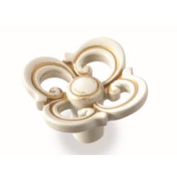 Ручка-кнопка  FB-058 золото прованс/1013 жемчужно - белый матовый                   Валмакс (FB-058)