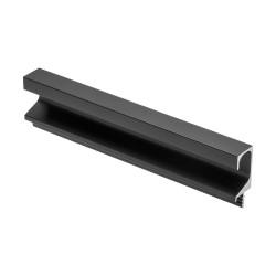 Ручка-профиль врезная С-образная, черная     (3,5м)          GTV   (PA-0242-35-50-20M)