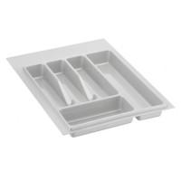 Лоток для столовых приборов белый 400 мм  (300-340) х (380-490)            Ц.К.(32/72.N40/Bl (25 шт)