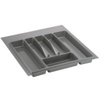 Лоток для столовых приборов серый 500 мм  (400-440) х (380-490)                   Ц.К.(32/73.N50/GR)